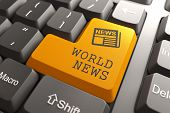 stock photo of mass media  - World News  - JPG