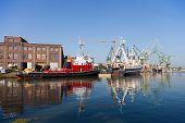 stock photo of overhauling  - Two ships were overhauled at the shipyard - JPG