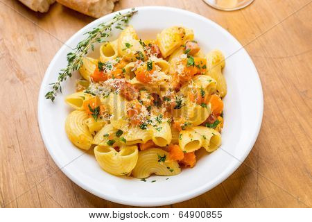 Pasta With Butternut Squash and Pancetta