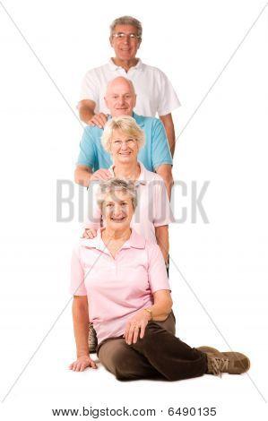 Senior Senioren, Gewichte zu heben
