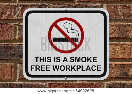 Smoking Free Workplace Sign
