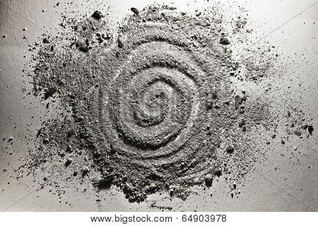 Spiral Shape Made Of Ash