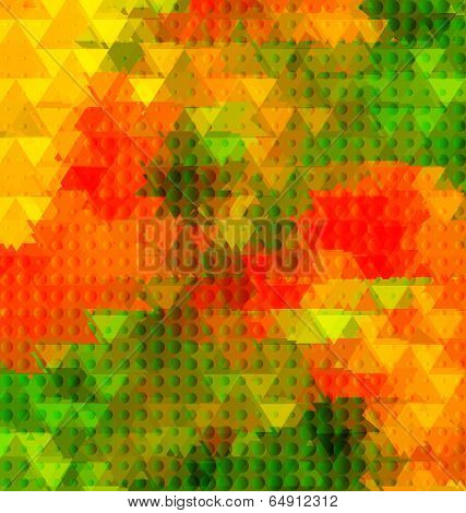 Triangle Golden Poppy Half Tone Blurred
