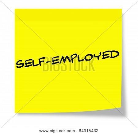 Self-employed Sticky Note