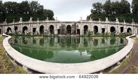 Caserta Palace garden