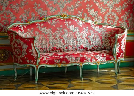 Red Sofa In Mansion