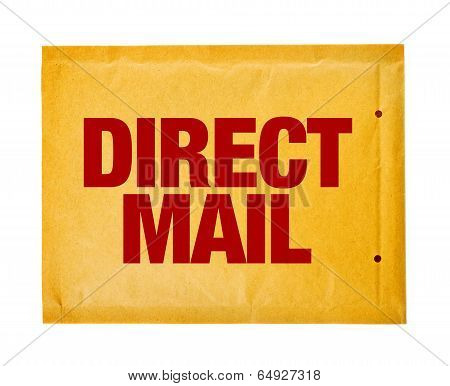 Direct Mail Postal Envelope On White Background