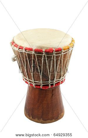 African Djembe On White Background