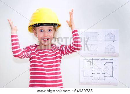 Little Girl In Hard Hat