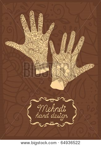 Mehndi Hand design