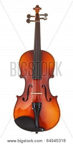 Classical Wooden Violin Isolated On White