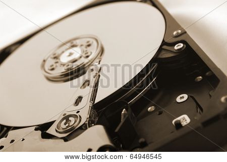 Detail of a hard disc