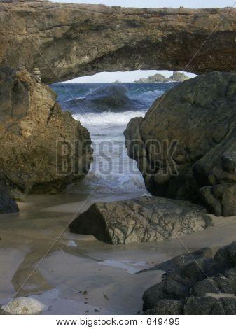 Puente de la naturaleza en Aruba
