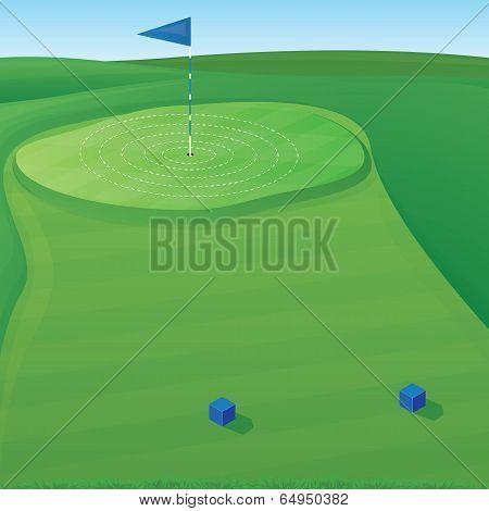Golf Target Illustration