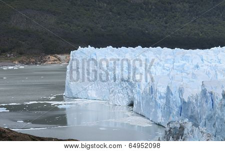 Patagonian Landscape With Glacier, Mountain And Lake