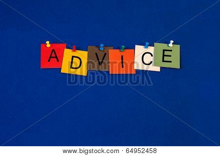 Advice, Sign Series for Business Coaching, Mentoring & Help.