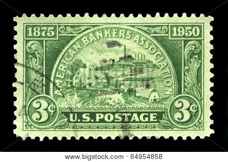 Us Postage Stamp Celebrating The American Bankers Association