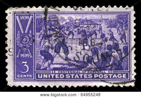 Invention Of Baseball Commemorative Us Postage Stamp
