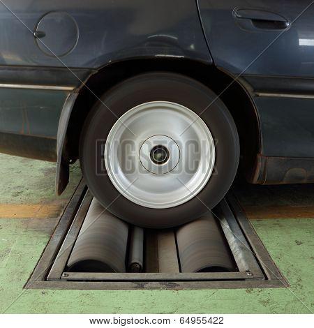 Brake Testing System Of Car