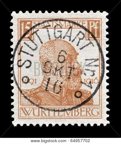 Wurtemberg stamp 1916
