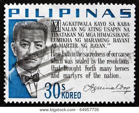 Postage Stamp Philippines 1966 Emilio Aguinaldo, Revolutionary A