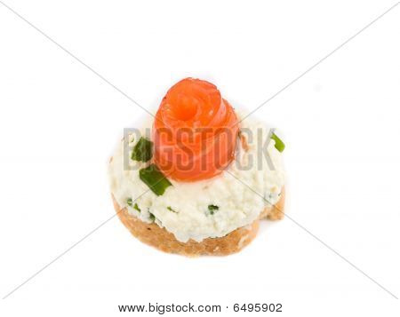 Sandwich With Smoked Trout