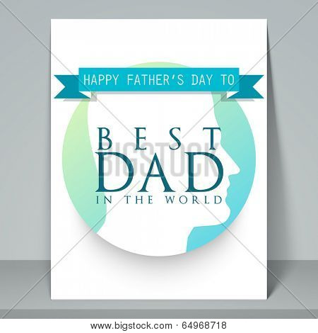 Stylish flyer, brochure and template design for Happy Father's Day celebrations with stylish text Best Dad.