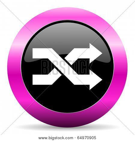 aleatory pink glossy icon