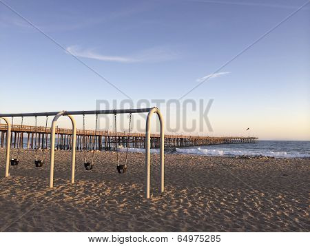 Kids Swings at Ventura Beach, CA