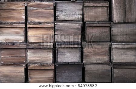 Old wooden crates rustic texture