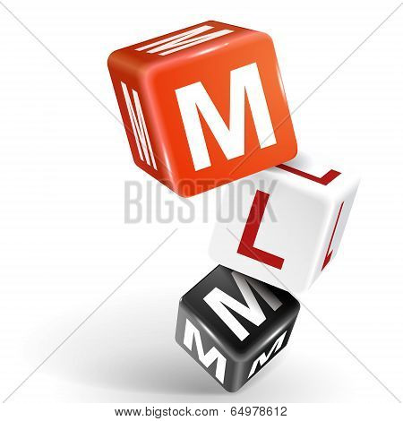 3D Dice Illustration With Word Mlm
