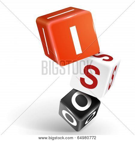 3D Dice Illustration With Word Iso