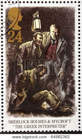 Sherlock Holmes Stamp 2