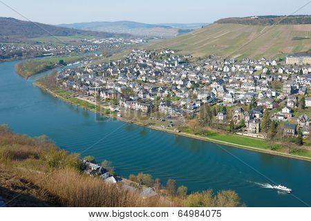 Bernkastel-Kues town, Moselle winemaking region, Germany