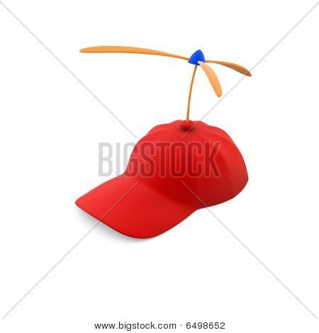 Red funny baseball cap