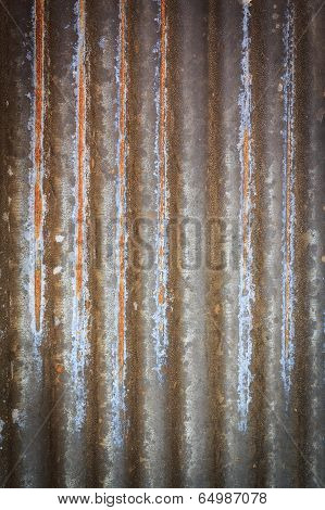 Rusty Corrugated Iron Metal Fence Zinc Wall Texture Background