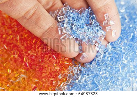 plastic polymer granule product