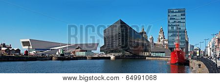 Panoramic View Of Liverpool's Historic Waterfront