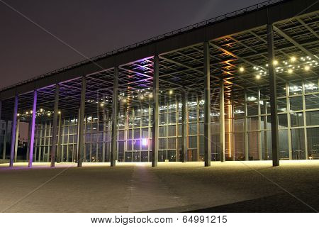 Nantes courthouse by night (France)