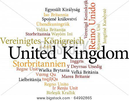 united kingdom in word clouds