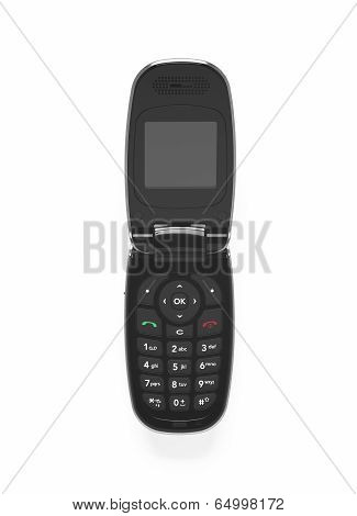 Old Mobile Telephone Isolated On White