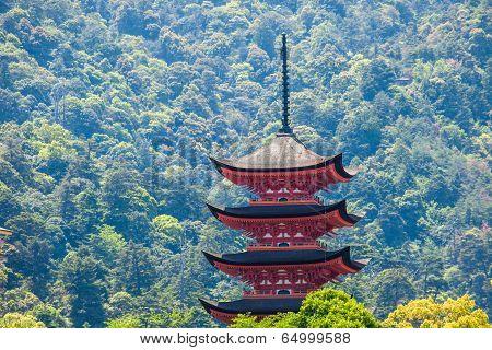 Five-storey Pagoda In Miyajima, Japan