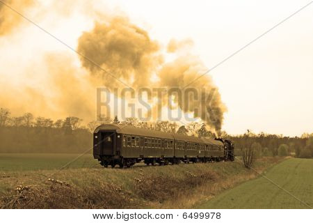 Steam retro train