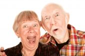 Surprised Senior Couple