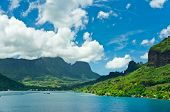 stock photo of pacific islands  - Paradise view of Moorea Islands Cook - JPG