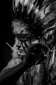 image of indian chief  - Warrior - JPG