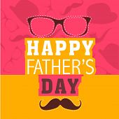 picture of mustache  - Colourful Happy Father - JPG