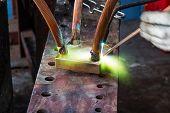 image of welding  - Electrical conductor welding - JPG
