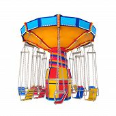image of swinger  - Carnival Swing Ride isolated on white background - JPG