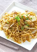 picture of rice noodles  - Thailand s national dishes, stir-fried rice noodles Pad Thai